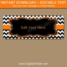 Halloween Return Address Labels  Printable by digitalartstar
