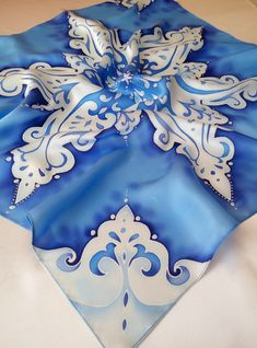 square silk scarf gift for women hand-painted silk от Batikrosa
