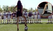 Adriana Lima Sahaya İndi. Güzelliği ile ün salan manken Adriana Lima, Dünya Kupası öncesinde bir araba markasının reklamında boy gösterdi.