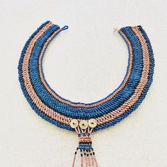 """Fowler Museum at UCLA on Instagram: """"For today's #FridayFinds, we're focusing on a beaded collar from Southern Africa. This collars shows off the artist's skills for creating…"""""""