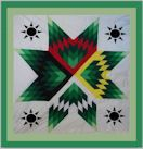 Diane's Native American Star Quilts: Earth Day Star Quilt