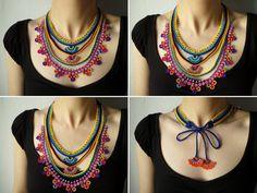 Beaded Lace-Halskette Gestricken mit gelb von irregularexpressions