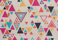 Washi Triangulo in Beige, by Rashida Coleman-Hale for Timeless Treasures, 100% Cotton Fabric