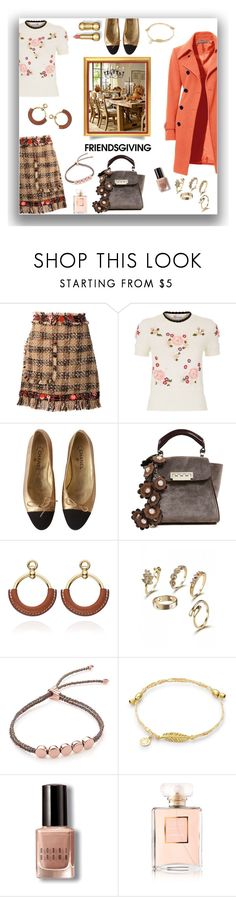"""""""Celebrating with friends"""" by deborah-518 on Polyvore featuring MSGM, RED Valentino, Chanel, ZAC Zac Posen, Monica Vinader, Bobbi Brown Cosmetics and friendsgiving"""