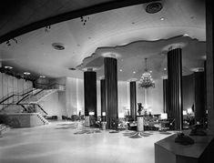 Morris Lapidus  THE LOBBY OF THE EDEN ROC HOTEL, MIAMI BEACH, 1955.