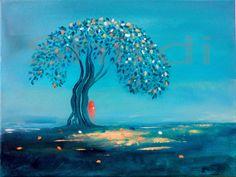 Shirdi's Baum -Leinwanddruck-