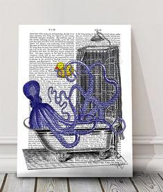 Hey, I found this really awesome Etsy listing at https://www.etsy.com/listing/191261225/octopus-in-the-bath-octopus-poster-kids
