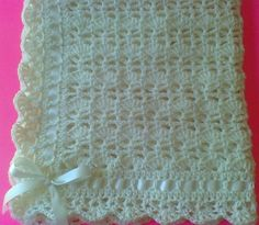 Ready To Ship Baby Blanket Heirloom Lace by TheShimmeringRose, $48.99 Knitted Baby Blankets, Baby Girl Blankets, Baby Afghans, Baby Blanket Crochet, Afghan Crochet, Knitting Patterns Free, Baby Knitting, Crochet Patterns, Crochet Ideas