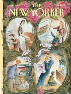 The New Yorker Cover - May 1994 Poster Print by Edward Sorel at the Condé Nast Collection The New Yorker, New Yorker Covers, Vintage Posters, Vintage Art, Vintage Photos, Capas New Yorker, Magazine Art, Magazine Covers, Vintage Magazines