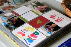 Love the idea of scanning/shrinking samples of kids artwork into Project Life album
