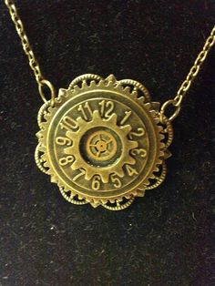 Steampunk Gear and Clock Necklace by JewelryByKimH on Etsy, $12.00