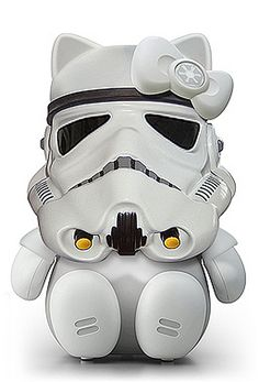 Hello Kitty Storm Trooper- way too cute :) Chat Hello Kitty, Hello Kitty Toys, Here Kitty Kitty, Hello Kitty Characters, Hello Kitty Collection, Sanrio, Piggy Bank, Pop Culture, Creations