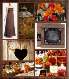 Rustic Fall Wedding Love everything but the brown dress