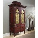 Ambella Home Collection - Lotus Cabinet in Cinnabar - 06776-820-001  SPECIAL PRICE: $5,250.00