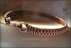 Mens/Womans Copper Wire Woven Bracelet