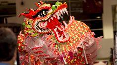 Estos dragones son lo maximo!!! :D, estaban recorriendo la #expochina