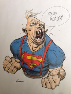 "Awesome #illustration #drawing ""Rocky Road ?!.."" by Ryan Ottley, an American artist based in Utah. #digitalart"
