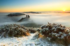 I seem pretty obsessed with Corfe of late! Buy Corfe Castle in the Mist & Snow from Lens-Flair Winter Photography, Landscape Photography, Travel Photography, Corfe Castle, Winter Photos, Landscape Pictures, Cool Landscapes, The Locals, Mists