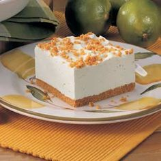 Lime Chiffon Dessert   make the crust with crushed almonds, replace sugar with splenda and use sf jello for a lower carb dessert.