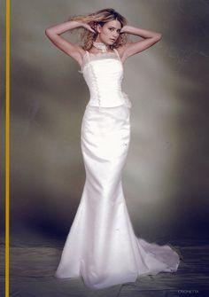 Garamaj style 'Crionetta' size 14 lace and organza bodice with straps in ivory over fistail ivory organza skirt, size 14 Wedding Dresses With Straps, Wedding Dresses For Sale, Designer Wedding Dresses, One Shoulder Wedding Dress, Buy Wedding Dress Online, Silk Gown, Satin Skirt, Bridal Gowns, Bodice
