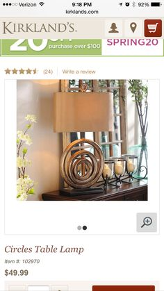 Kirklands lamp