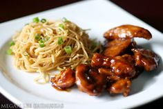 Teriyaki Chicken and Garlic Noodles.
