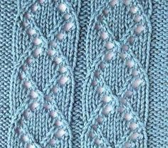 Pattern knitting medallion, eyelet pattern for knitting sweaters, socks, etc.