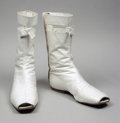 Pair of Woman's Boots. France, circa 1965. André Courrèges | LACMA Collections