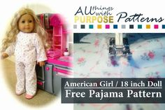 American Girl Doll Free Pajamas Pattern