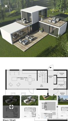 Ideas Shipping Container Homes Plans Layout Ideas Tiny House for Contein. - Ideas Shipping Container Homes Plans Layout Ideas Tiny House for Conteiner house in 45 Shipping Container Home Designs, Container House Design, Tiny House Design, Modern House Design, Shipping Container Cabin, Shipping Containers, House Design Plans, Small Modern House Plans, Small Floor Plans