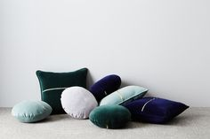 Elwyn Velvet Cushions. Styling Bek Sheppard, Photography Annette O'Brien. Available at onthesly.com.au