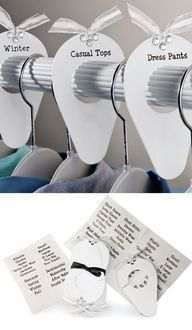 Charmed ClosetsTM Rod Organizers Clever Dividers Put An End To Closet Chaos Love This Idea