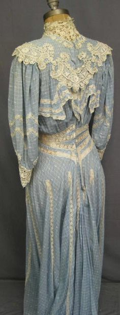 Blue Edwardian dress This kind of clothing is right up my alley.