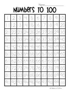 Numbers to 100 Grids by Rebecca Anderton Number Writing Practice, Math Writing, Preschool Learning Activities, Kindergarten Writing, Writing Numbers, Preschool Math, Teaching Math, Numbers Kindergarten, Numbers Preschool