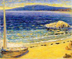 "dappledwithshadow: "" Marine Scene Pierre Bonnard - circa 1910 """