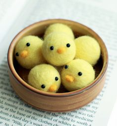 Needle Felted Little Baby Chicks Handmade. So adorably cute!!!