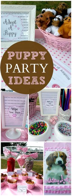 Love this adorable adopt a puppy Paw-tay!  See more party ideas at CatchMyParty.com!