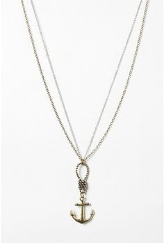 Knot & Anchor Necklace #jewelry $20  Oh. My. Gawd. I love this. :')