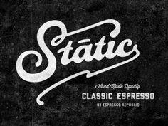 Static Coffee Lettering  by Salih Kucukaga