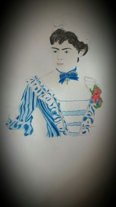 My drawing of the sweet young Baroness Mary Vetsera