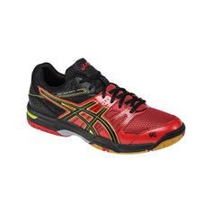 Men s ASICS GEL-Rocket 7 Court Shoe - Racing Red Black Flash Yellow...  (8220 RSD) ❤ liked on Polyvore featuring men s fashion and men s shoes d7321b5d4a