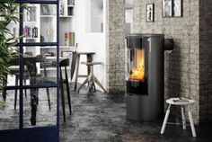 Rais Release Four More Clever Stoves! Danish stove maker Rais has released updated versions of their popular Viva 98 and Viva 120 wood burning stoves. They have introduced the Viva L 100 and Viva L 120 models, available in both the … Multi Fuel Burner, Multi Fuel Stove, Fireplace Supplies, Stove Parts, Freestanding Fireplace, Freestanding Stoves, Pellet Stove, Bedroom Fireplace, Cleaning Wood