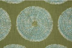 Robert Allen Shibori Sol Printed Cotton Drapery Fabric in Seaglass $18.95 per yard