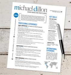 Cool Resume Templates The Kaylee Lyn Resume Design  Graphic Design  Marketing  Sales