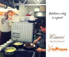 Chef e gelatieri: Filetto di cervo con gelato al tabacco su un biscuit speziato preparati dallo chef Maurizio Camilli e da Cristian Ciacci. Per scoprire che l'abbinamento di gusti insoliti, crea piatti straordinari.