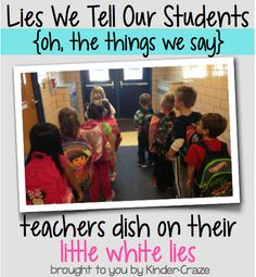Are you ever so eager to manage your students' behavior that you tell a little white lie to help them follow the rules? My new school has security cameras installed in the hallways and my class has...