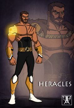 Heracles Finalized by DivineComics on DeviantArt Alien Character, Character Creation, Character Concept, Character Art, Character Design, Dc Comics Art, Marvel Dc Comics, Superhero Characters, Fantasy Characters