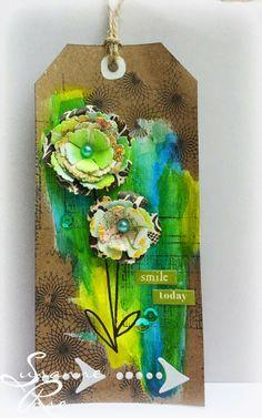 Clay & Scrap - Kreativ: Smile Today: #mixedmedia #gelatos