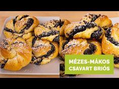 Mézes-mákos csavart briós - YouTube Brie, Youtube, Food, Essen, Meals, Youtubers, Yemek, Youtube Movies, Eten