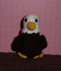 free eagle crochet pattern - going to use this to make my husband a Sam the Eagle from the Muppets